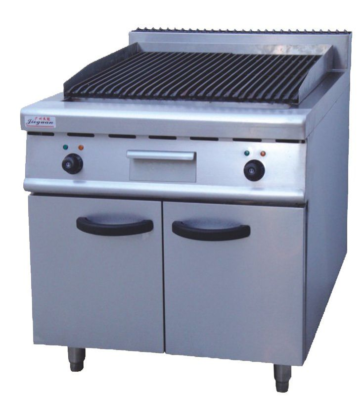 Gas Lava Rock Grill  Size:80×90×97cm Power:15kw Volts:3N-380V Net Weight:118kg natural gas or LPG