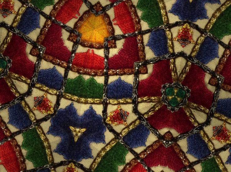 Detailed section of my Middle Eastern embroidery