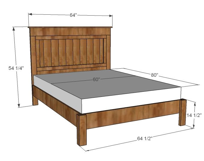 Best 25 queen bed frames ideas on pinterest simple bed for Farmhouse bed frame plans