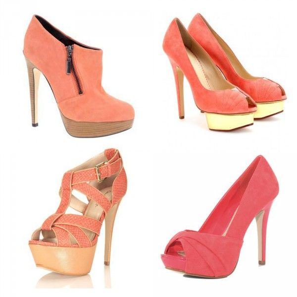 #coral #pink #shoes http://ko-te.com