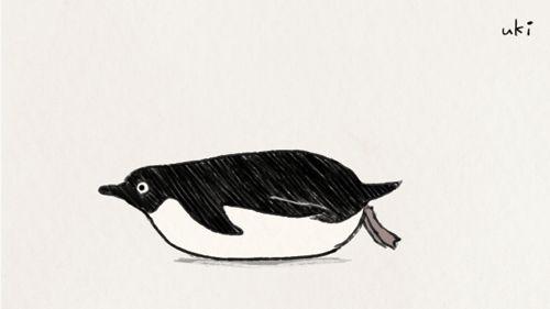ukilog: A penguin animation that I found among works drew the year before last… 一昨年のラクガキフォルダから発掘されたペンギンgif