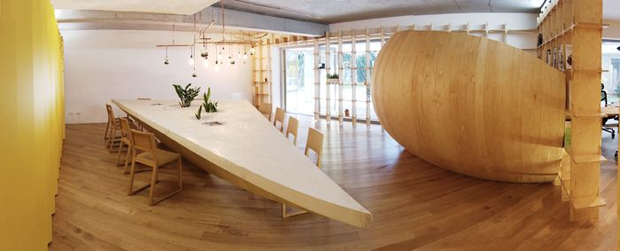 Bucharest office, navigating, wood, Atelier Ciprian Manda