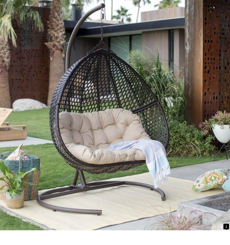 Find More Information On Outside Patio Furniture Sale Please Click Here For More Information O Hanging Egg Chair Backyard Furniture Wicker Porch Swing
