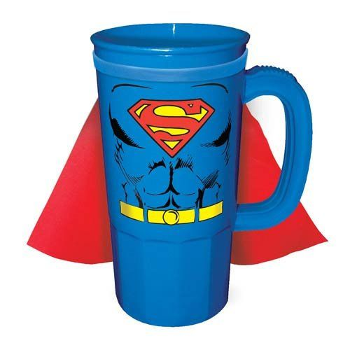 DC Comics Superman Character Chest Caped 22 oz. Plastic Stein @ niftywarehouse.com #NiftyWarehouse #Superman #DC #Comics #ComicBooks