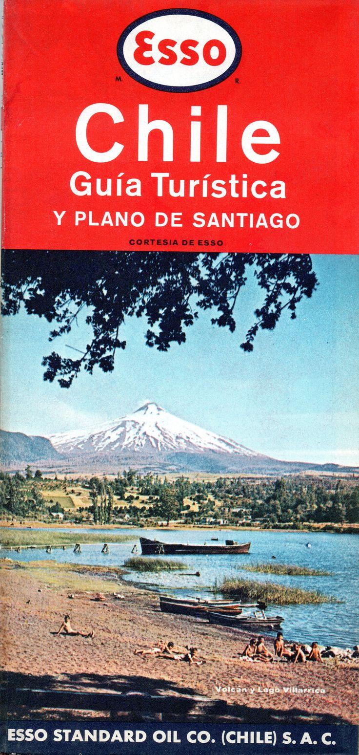 Esso Chile Guía Turística 1964 y plano de Santiago. Esso Stanfard Oil Co. (CHILE)