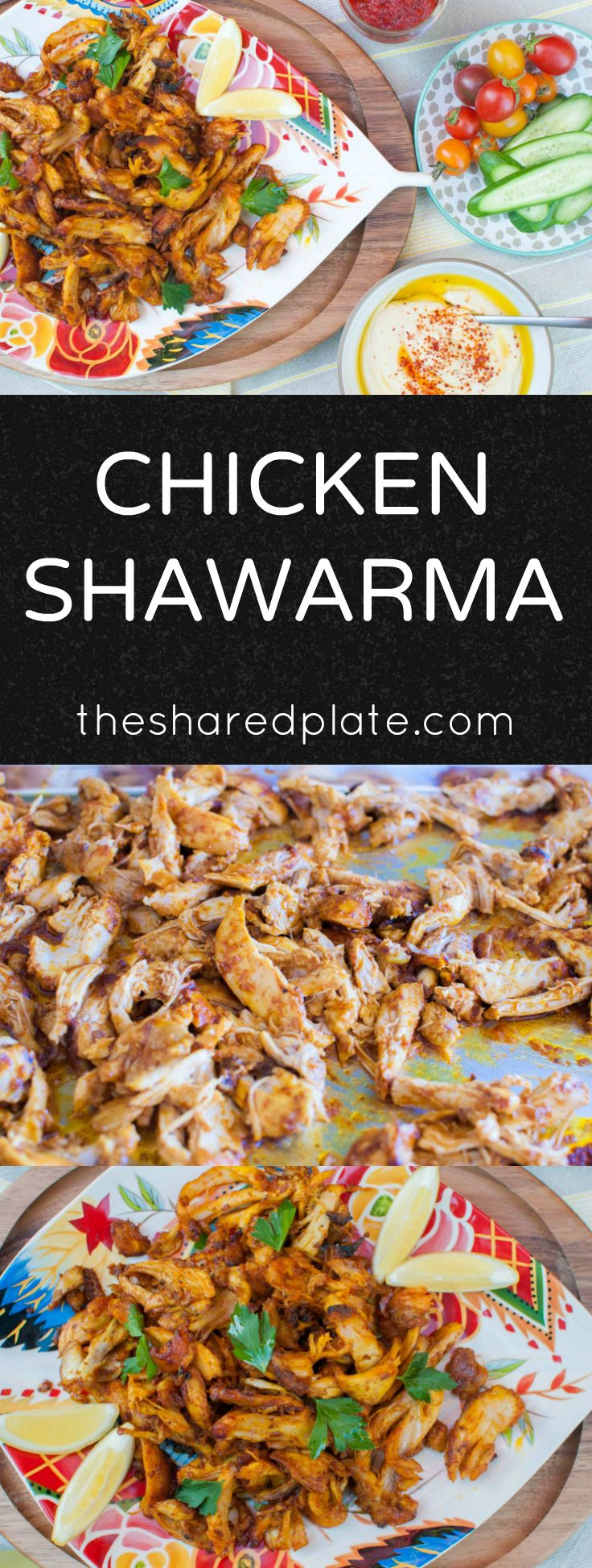 Chicken Shawarma - fragrant, mediterranean-spiced chicken perfect over rice or wrapped in pita bread with fresh tomatoes and cucumbers!