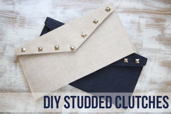 DIY Studded Clutches