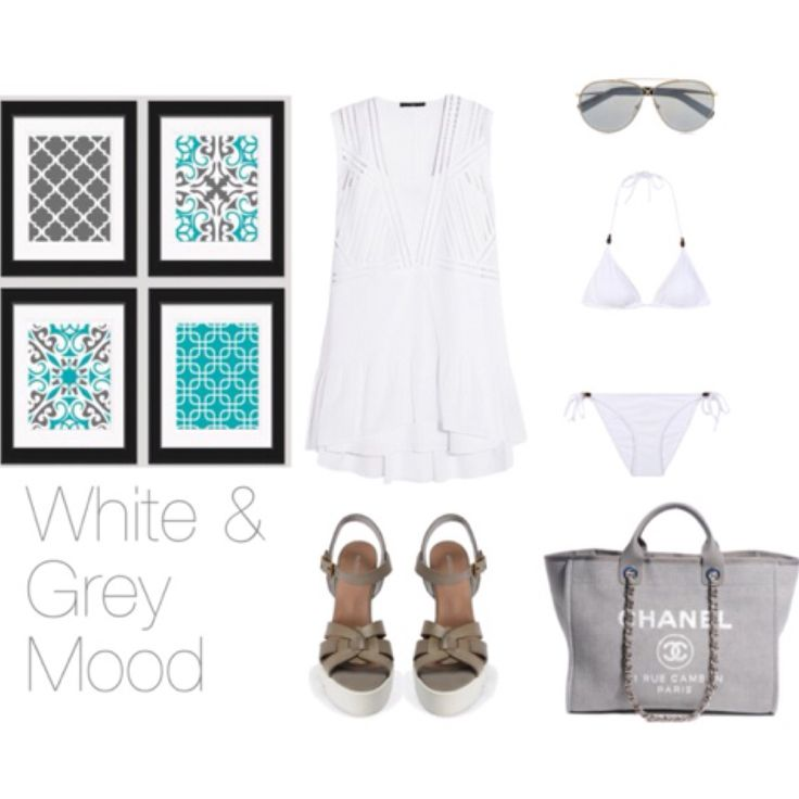 White and Grey Mood with Andreas sandals