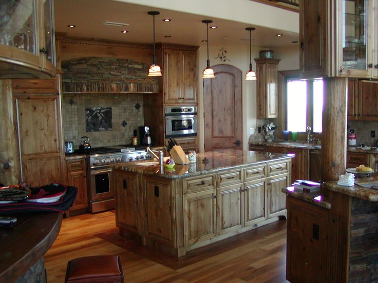 enchanting rustic kitchen cabinets creating glorious natural | 146 best knotty alder cabinets images on Pinterest ...