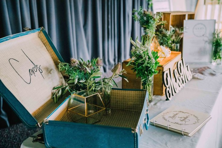 Suitcase Charm.  Adorn Event Styling @Tailrace Centre