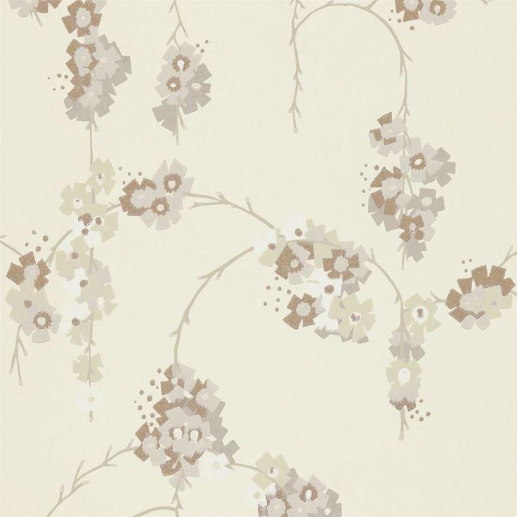 Carta da parati a fiori glicini - Italian Vintage Sofa