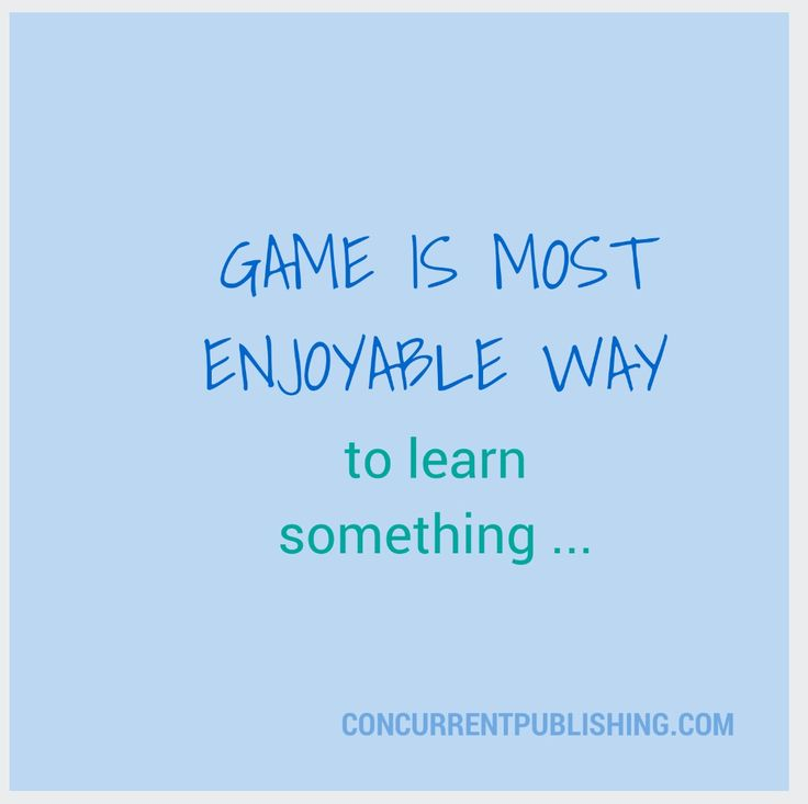 Game and learning ...