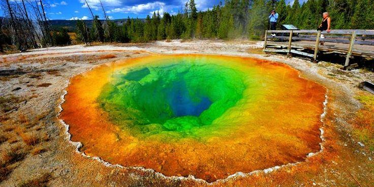Morning Glory Pool din Yellowstone, Wyoming