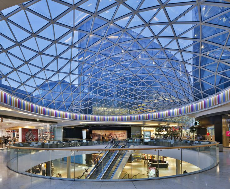 Eurovea International Trade Center, Entry Court, Interior, Skylight, Glass Roof, Bratislava-Slovakia