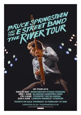 Bruce Springsteen - River Tour - Uk 2016 - Mini Print