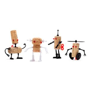 Corkers are a design collaboration between Oded Friedland and Reddish Studio, 'these party animals spark up your dinner and make the best out of your wine corks'.