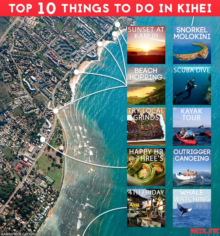 Top 10 Things To Do In Kihei! Https://redlinerafting.com