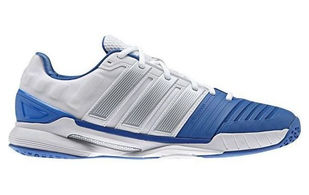 Chaussures Adidas Adipower Stabil 11 2015 blanches http://www.sport-time.fr/