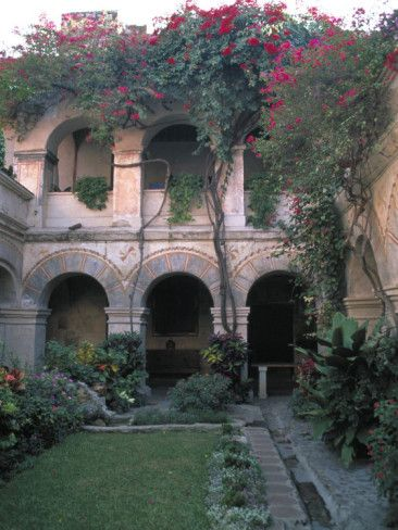 judith-haden-courtyard-of-the-camino-real-oaxaca-hotel-bougainvillea-and-garden-mexico