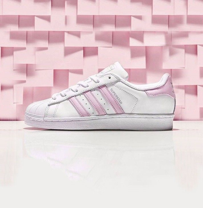 adidas original superstars shell sneaker BA9915 Women\u0027s Casual Shoes White/ Pink