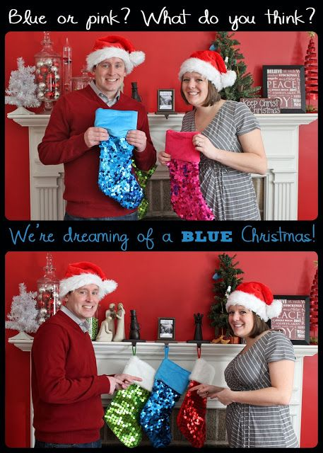 Our Gender Reveal Christmas Gender Reveal Our Suburban Farm: It's a.....