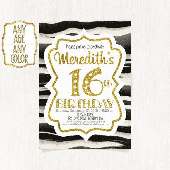 16th birthday invitation Sweet sixteenth birthday by CoolStudio