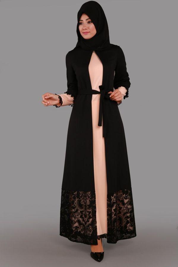 Güpür Detay İkili Elbise Somon Ürün kodu: BNM00203 --> 99.90 TL
