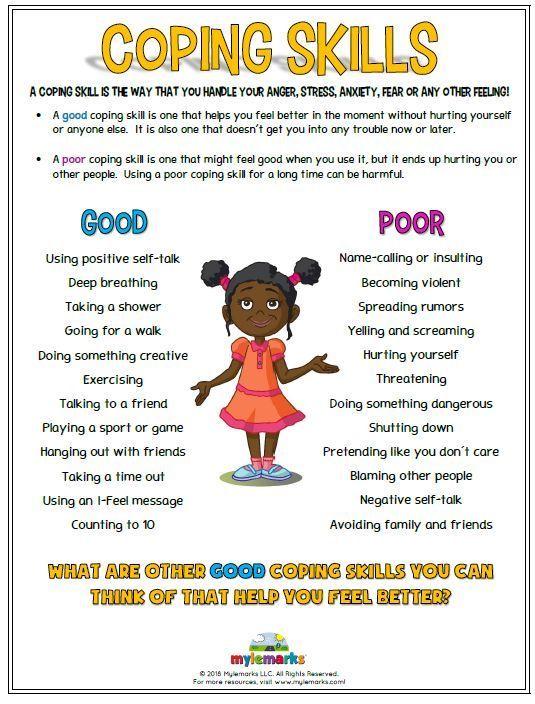 Coping Skills (+ES) | Kids coping skills, Kids mental ...