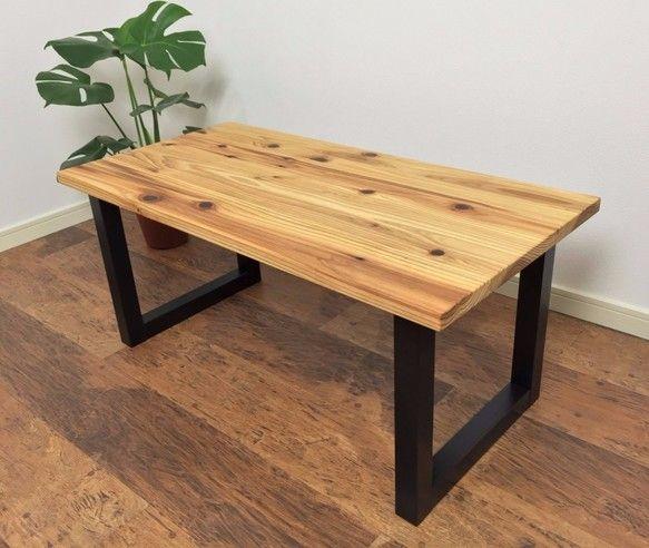 杉の無垢材を使ったローテーブル クリアー塗装 テーブル・机 Marr's wood craft ハンドメイド通販・販売のCreema