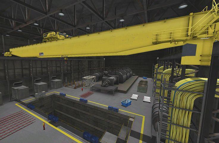 Overhead Crane Training Middlesbrough : Screenshot from the vortex overhead crane training module