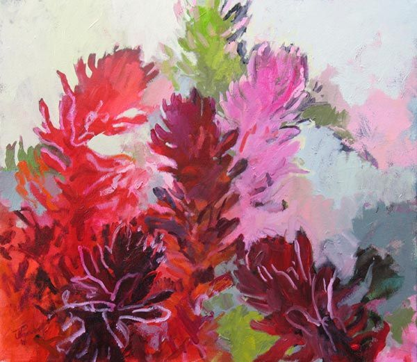 Red protea - by Cape Town artist Jenny Parsons