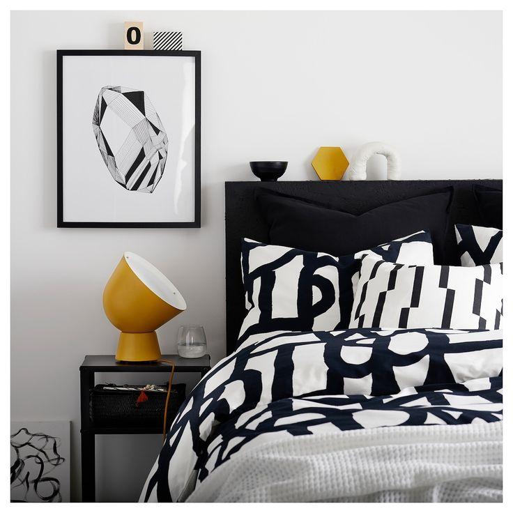Skuggbracka Duvet Cover And Pillowcase S White Black Ikea In 2020 Quilt Cover Duvet Covers Pillow Cases