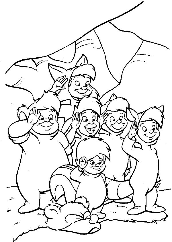 peterpan coloring pages