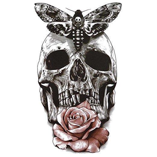 Giant Cranium Rose Short-term Tattoo