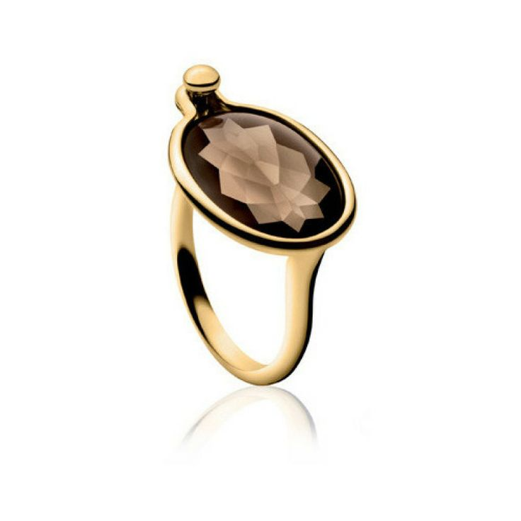 SAVANNAH RING - 18CT GOLD/SMOKY QUARTZ - GEORG JENSEN - SAVE £225! Regular Price: £1,225.00 Special Price: £1,000.00