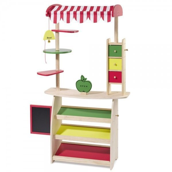 howa wooden toy shop, play shop, market stand 4747