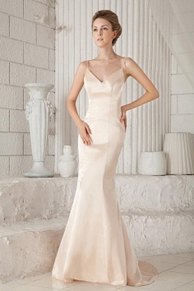 Satin Trumpet/Mermaid V-Neck Evening Dress sfp1631 - http://www.shopforparty.com/satin-trumpet-mermaid-v-neck-evening-dress-sfp1631.html - COLOR: Champagne; SILHOUETTE: Trumpet/Mermaid; NECKLINE: V-Neck; EMBELLISHMENTS: ; FABRIC: Satin - 182USD