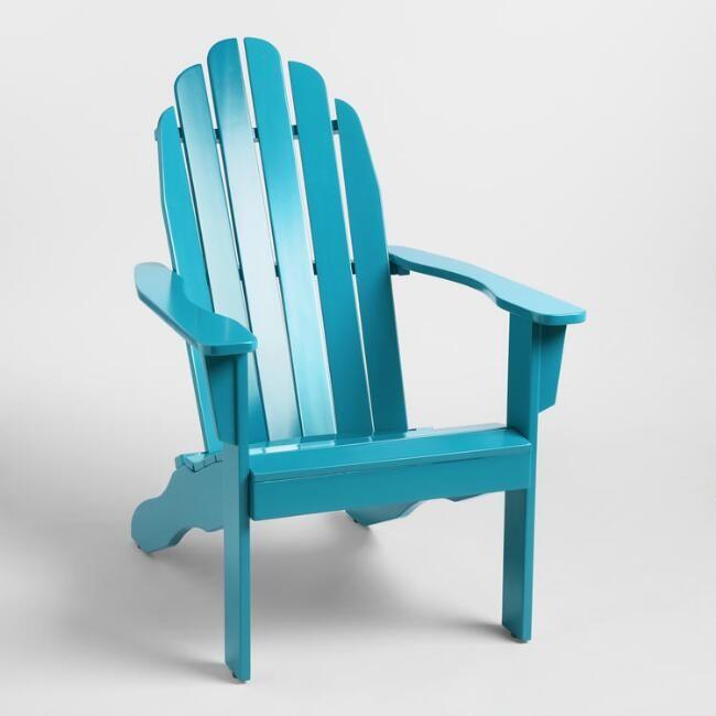 Deep Teal Adirondack Chair In 2020 Adirondack Chair Outdoor