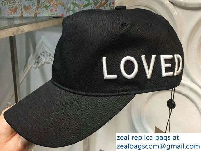 Gucci Loved Black Baseball Hat Cap 2018  83be18626afb