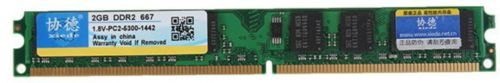 Xiede 2GB DDR2 667MHz PC2 5300 DIMM 240Pin For AMD Chipset Motherboard Desktop