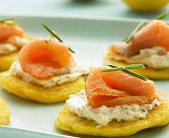 Polenta Pancakes with Smoked Salmon & PHILLY | PHILADELPHIA #recipes