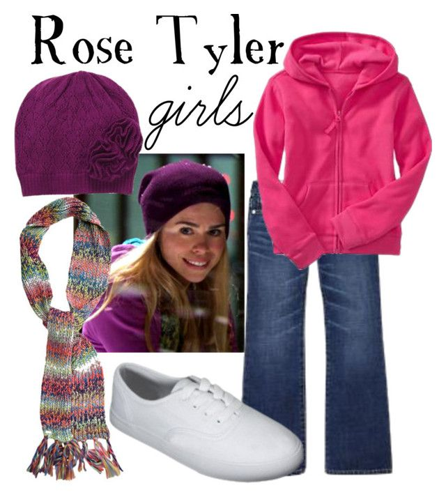 """Rose Tyler for girls"" by companionclothes ❤ liked on Polyvore featuring Gap, Old Navy, O'Neill and doctor who"