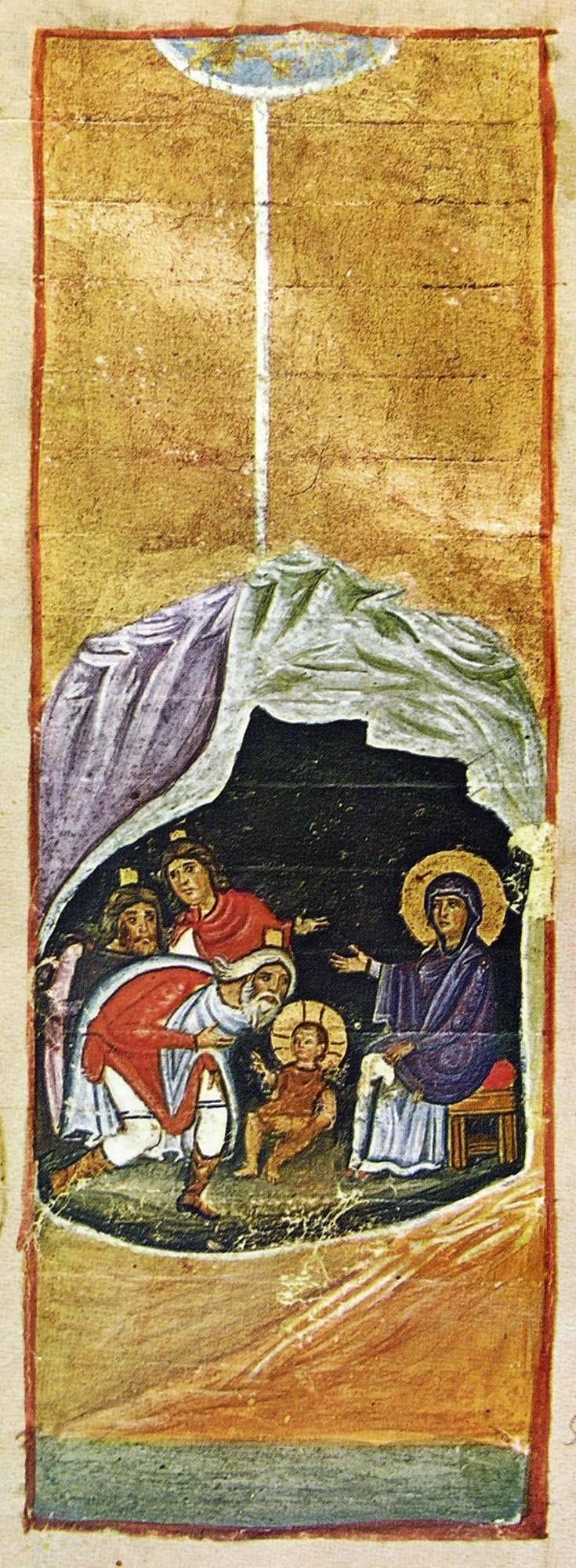 ... Χριστός γεννάται, δοξάσατε, Χριστός εξ ουρανών, απαντήσατε, Χριστός επί γης, υψώθηκε. Ασατε τω Κυρίω πάσα η γη...