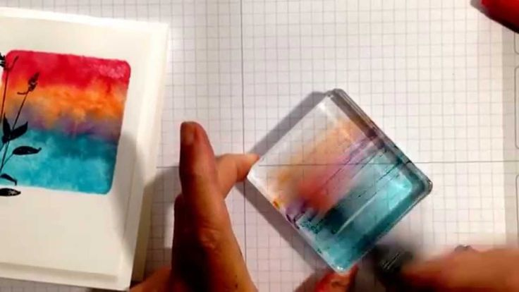 Just a Minute Stamping Technique: Watercoloring with World of Dreams! using acrylic block as stamp and spritz with water