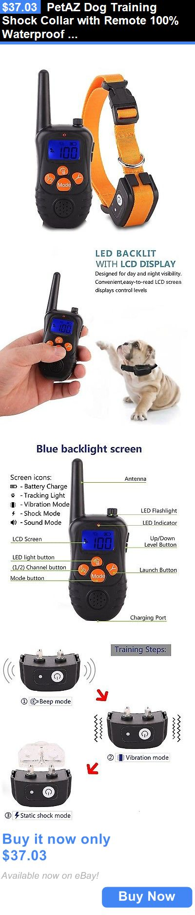 Animals Dog: Petaz Dog Training Shock Collar With Remote 100% Waterproof For Puppy Small M... BUY IT NOW ONLY: $37.03