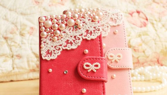 lace wallet galaxy note2 case iphone 5c case by cellphoneaccessory