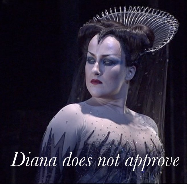 Diana Damrau as the Queen of the Night. I think she could probably kill us all...