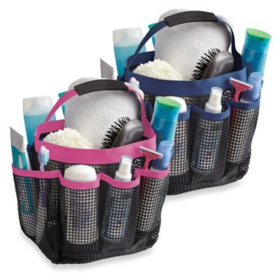 Mesh Shower Tote - BedBathandBeyond.com Great gift idea for college student. Give this filled with everything they need for showering  shaving.