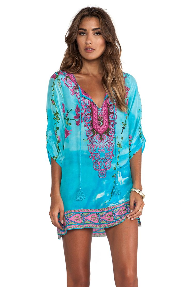 Tolani Zoe Dress in Turq from REVOLVEclothing - I want this as a beach cover up!