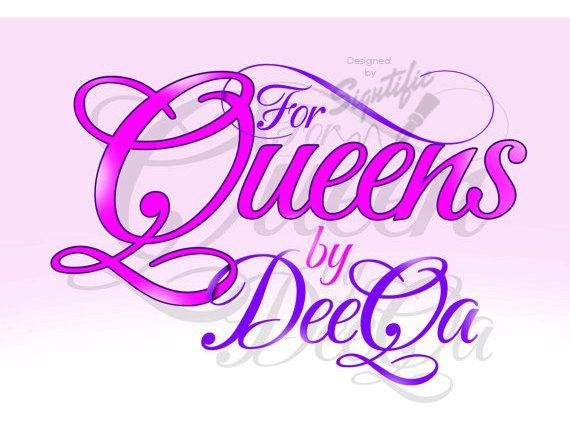 Custom logo design fashion logo girly pink and purple by Signtific